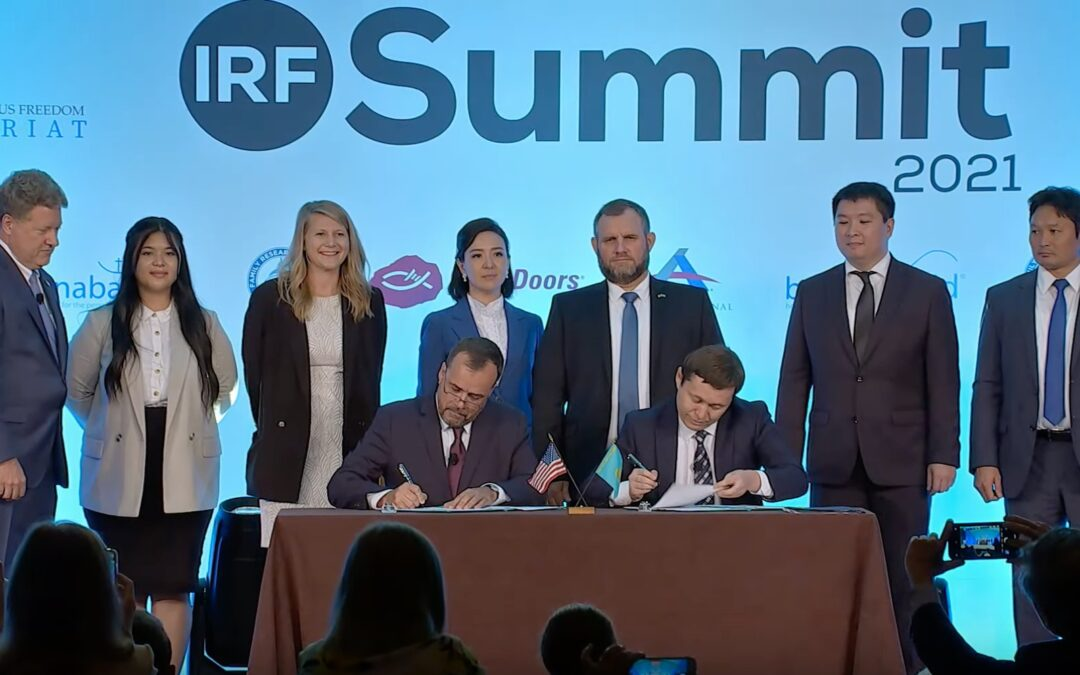 The Government of Kazakhstan and LYNC Sign Historic MOU at IRF Summit